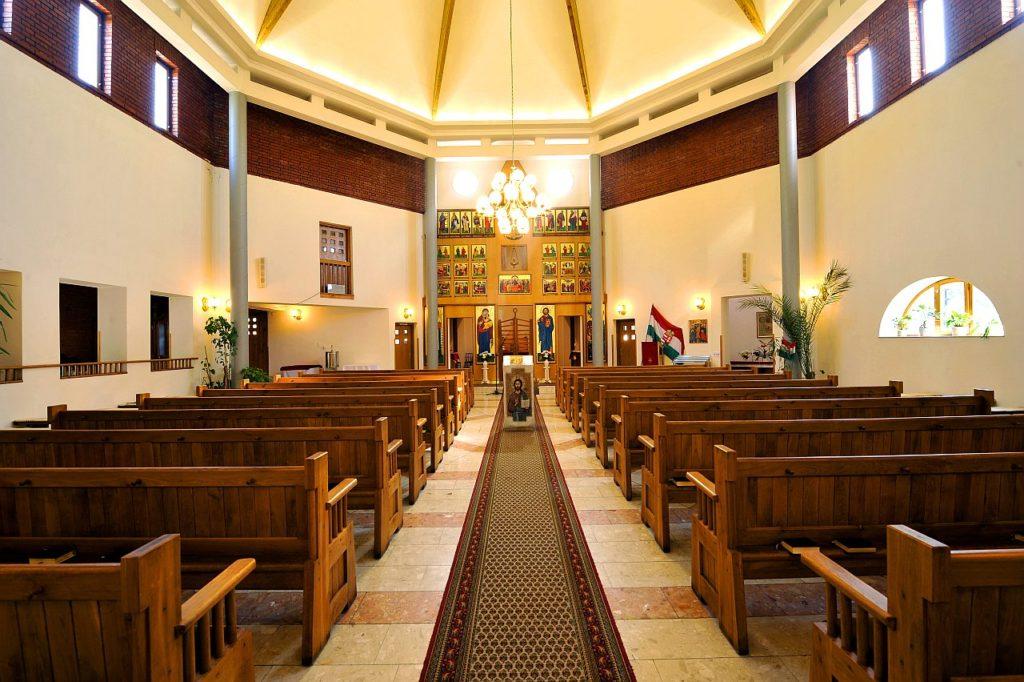 A jósavárosi görögkatolikus templom belső tere